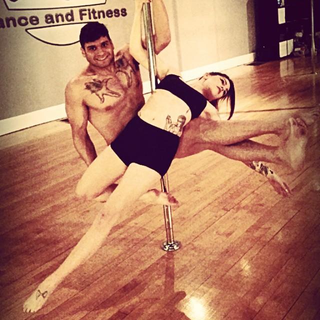 Pole flow poleography choreography class