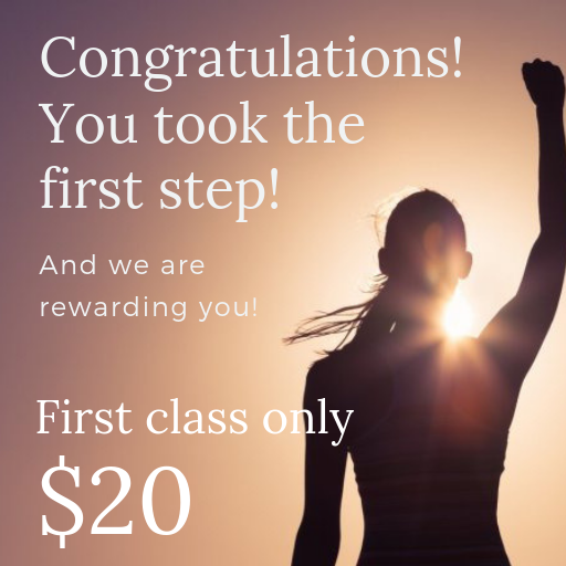 Picture of person with fist up and first class $20