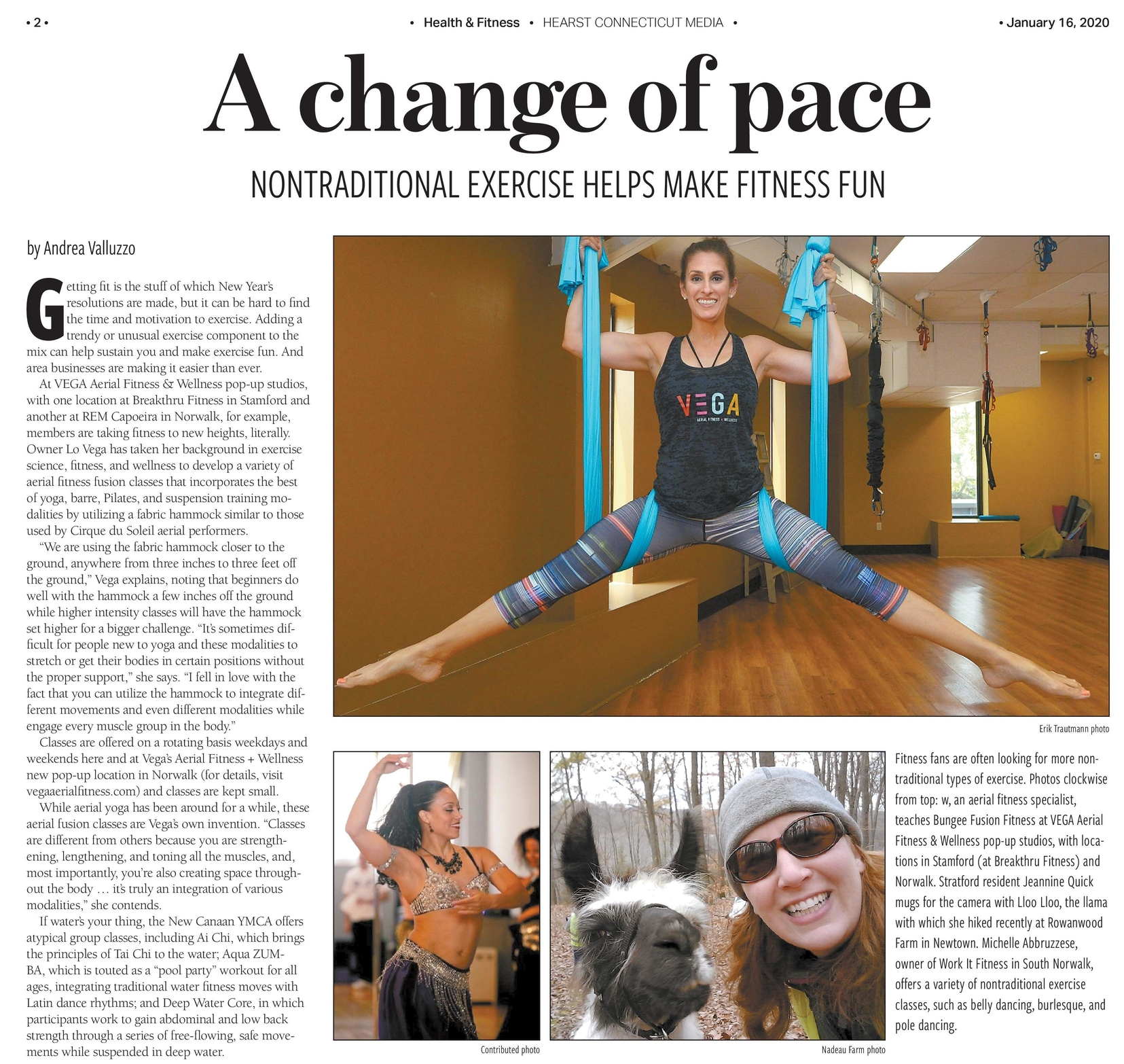 Pole Dancing in CT fitness article