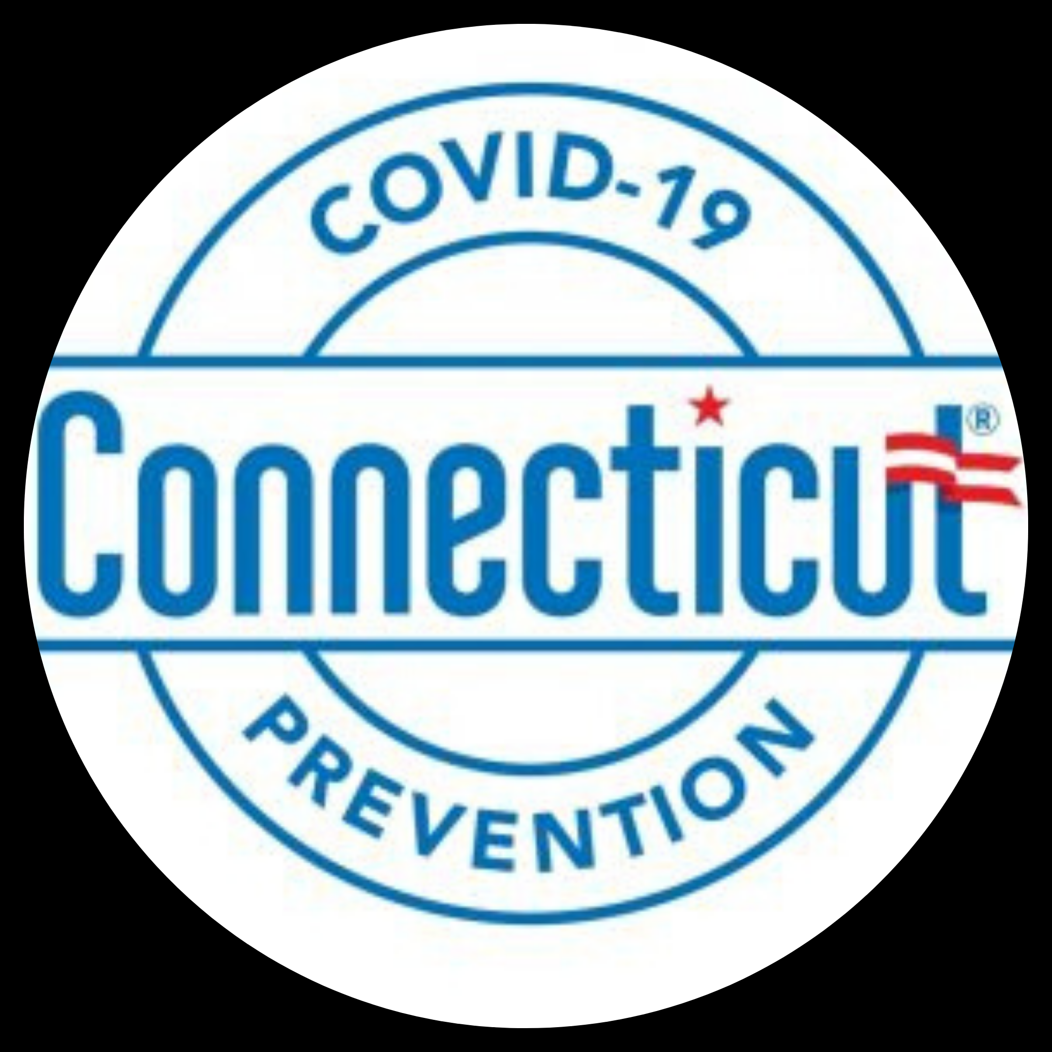covid-19 badge for Connecticut